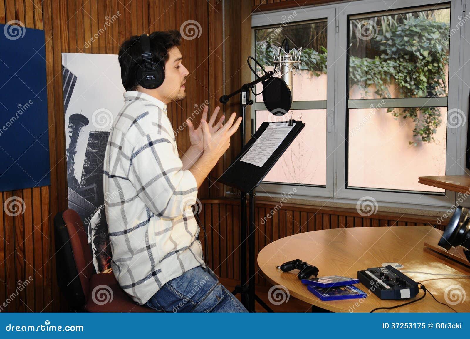Actor At Recording Stu...