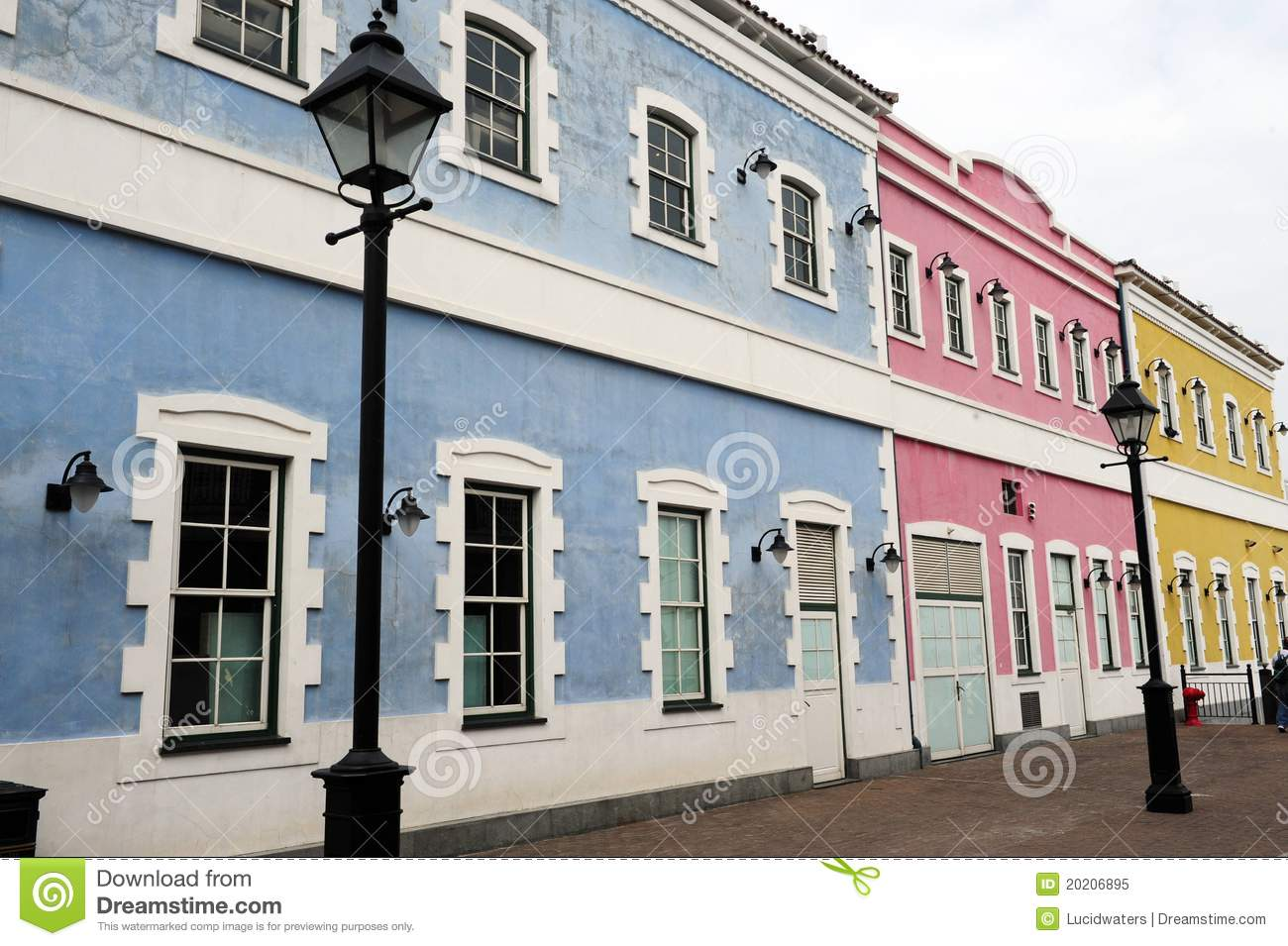 Modern exterior house colors - Portuguese Architecture Royalty Free Stock Photo Image 20206895