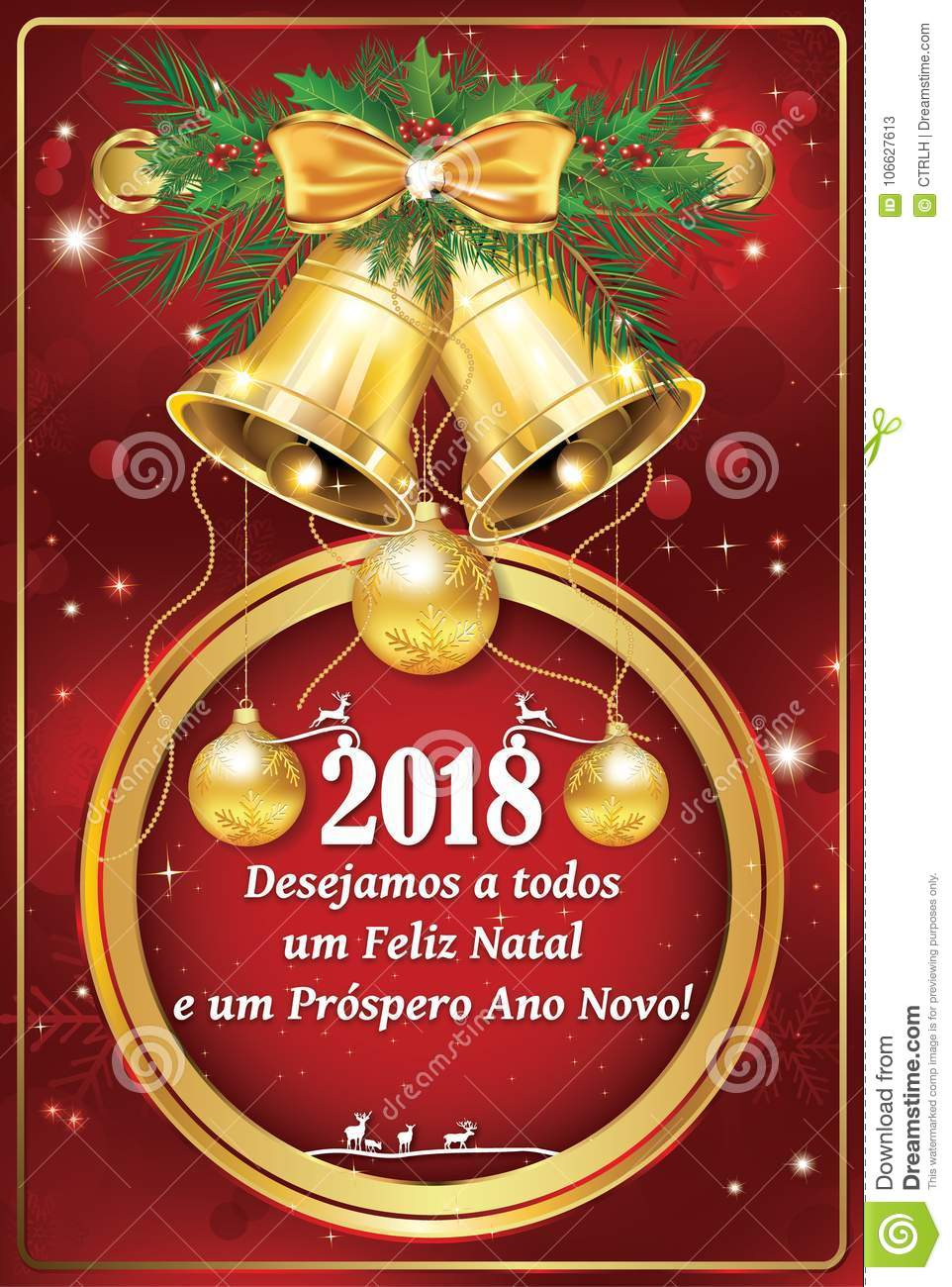 Portuguese business seasons greetings new year card stock portuguese business seasons greetings christmas new year card portuguese text we wish you merry christmas and happy new year print colors used m4hsunfo