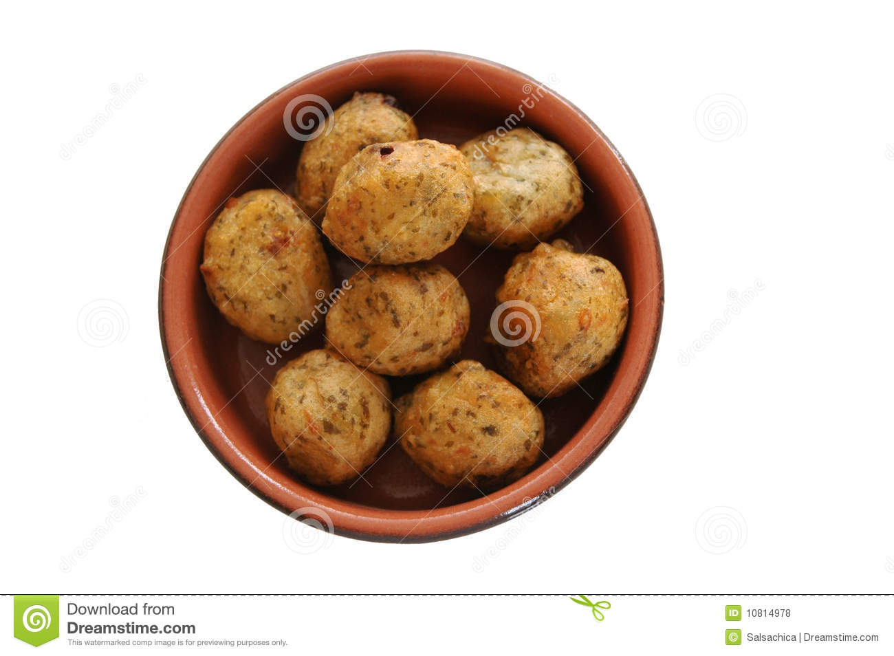 Portuguese Cod Fritters Royalty Free Stock Photos - Image: 10814978