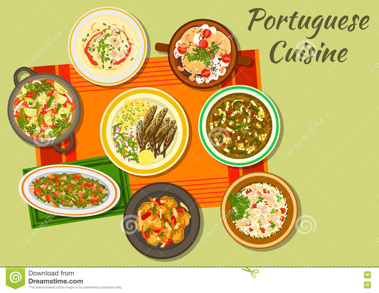 Portuguese cuisine icon for food design stock vector for Cuisine design portugal