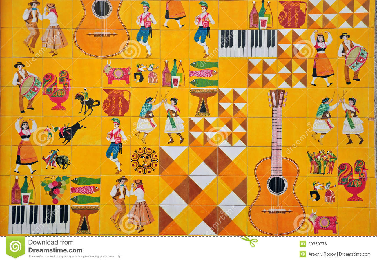 Portuguese Culture In Azulejos Editorial Photo - Image: 39369776