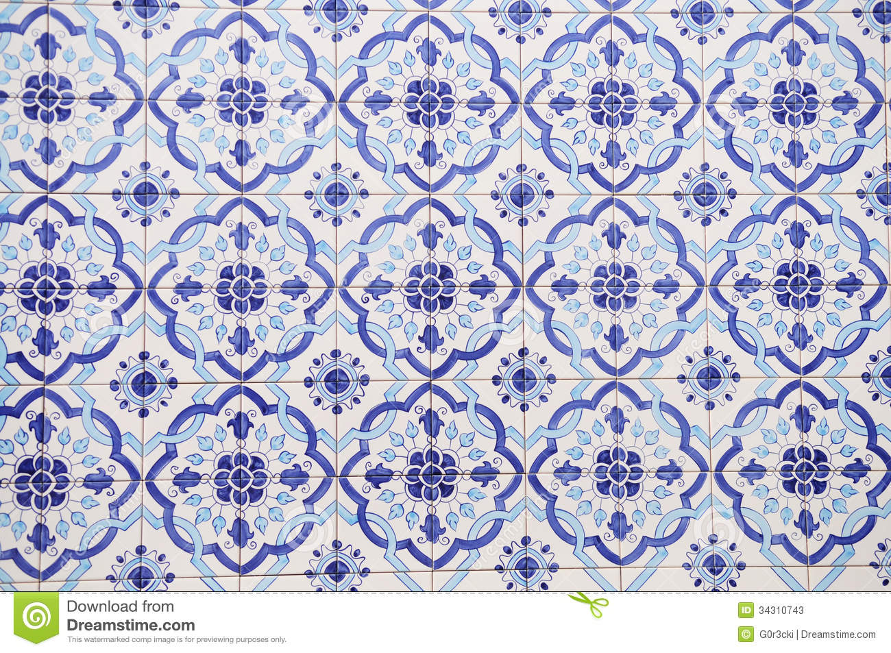 Portuguese Handmade Tiles Textures Arts Stock Photos