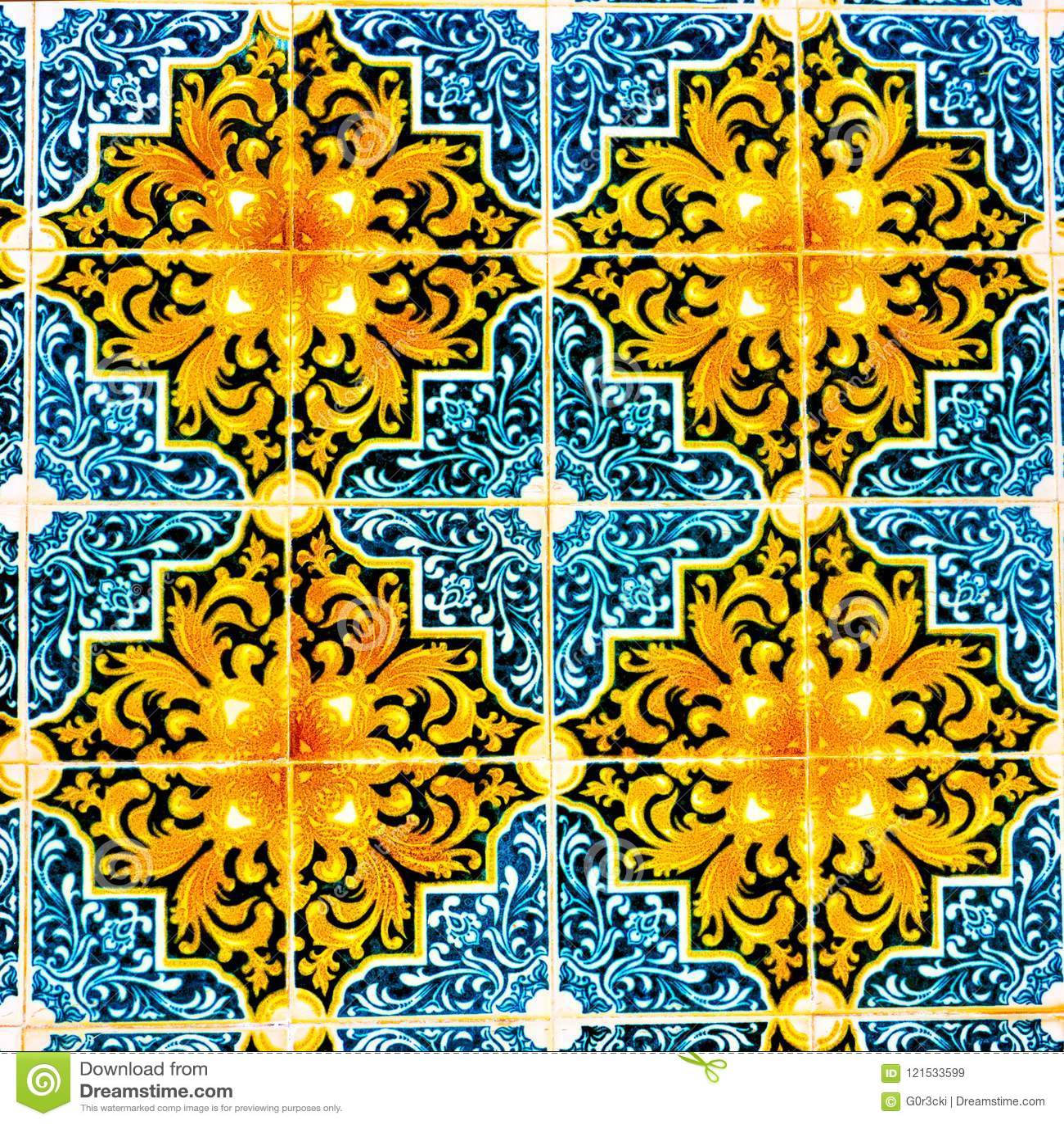 Portuguese Pattern Tiles, Handmade Glazed Colorful Tile, Backgrounds, Portugal Colorful Street Art, Travel Europe
