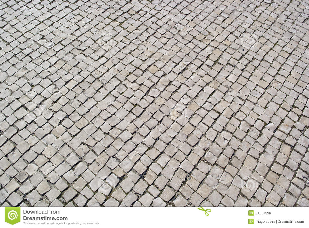 Portuguese Pavement Calcada Portuguesa Stock Photo