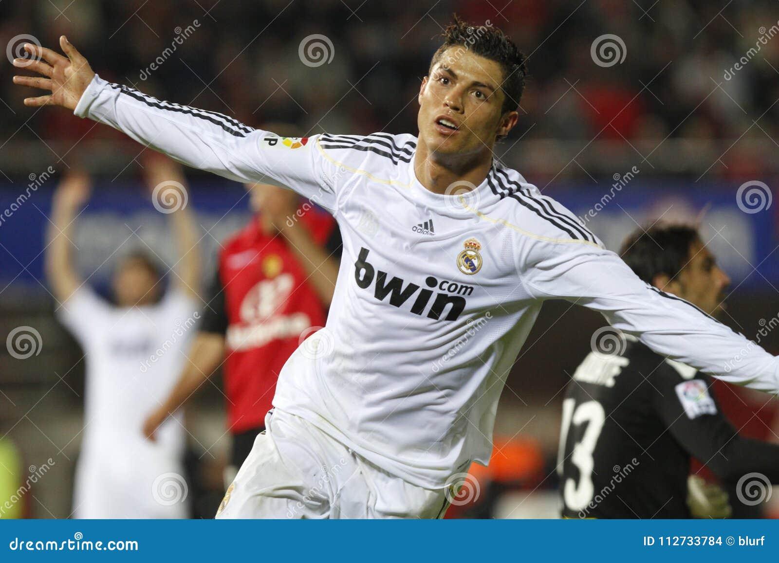 Cristiano Ronaldo after scoring a goal