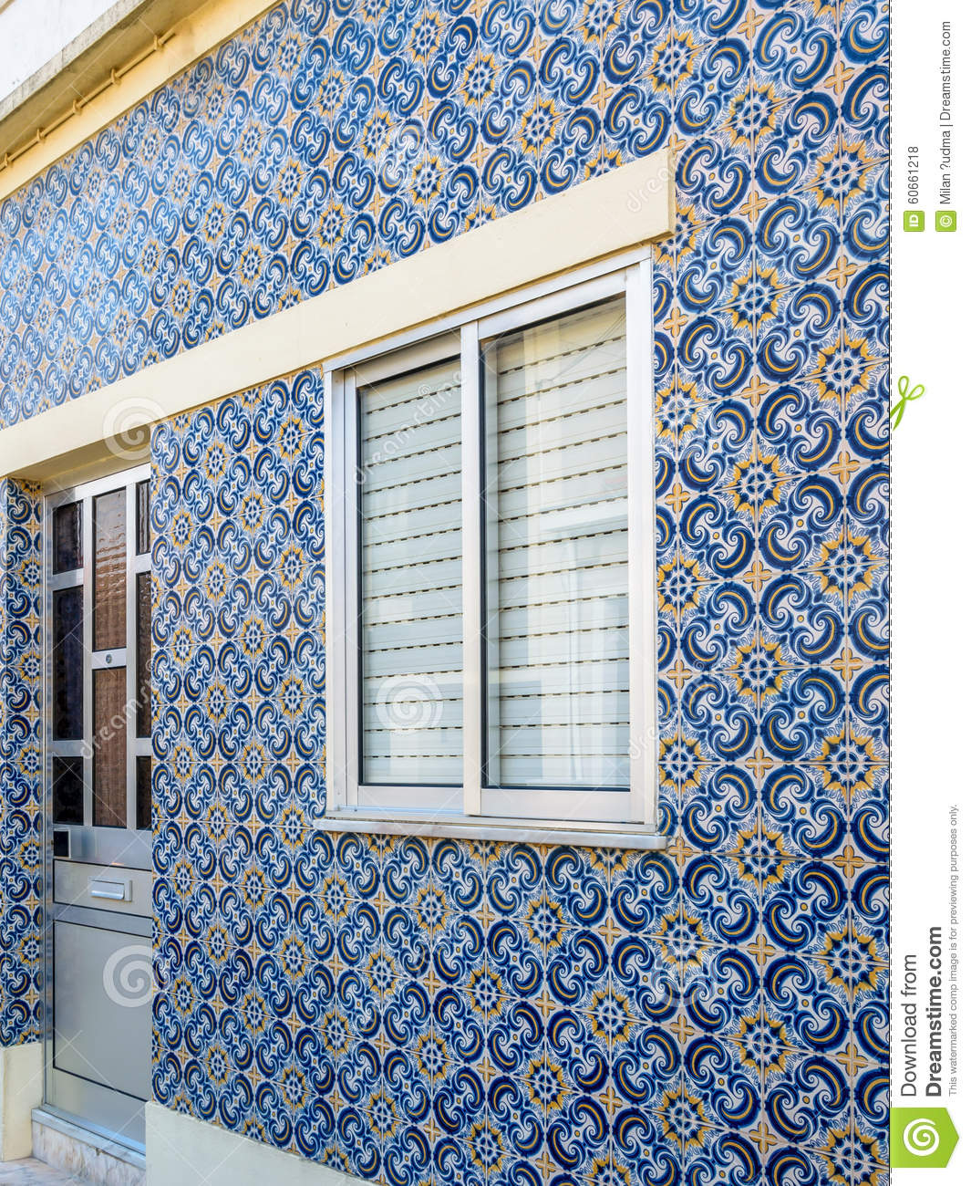 Portuguese tile house azulejo 5 stock photo image for Casa dos azulejos lisboa