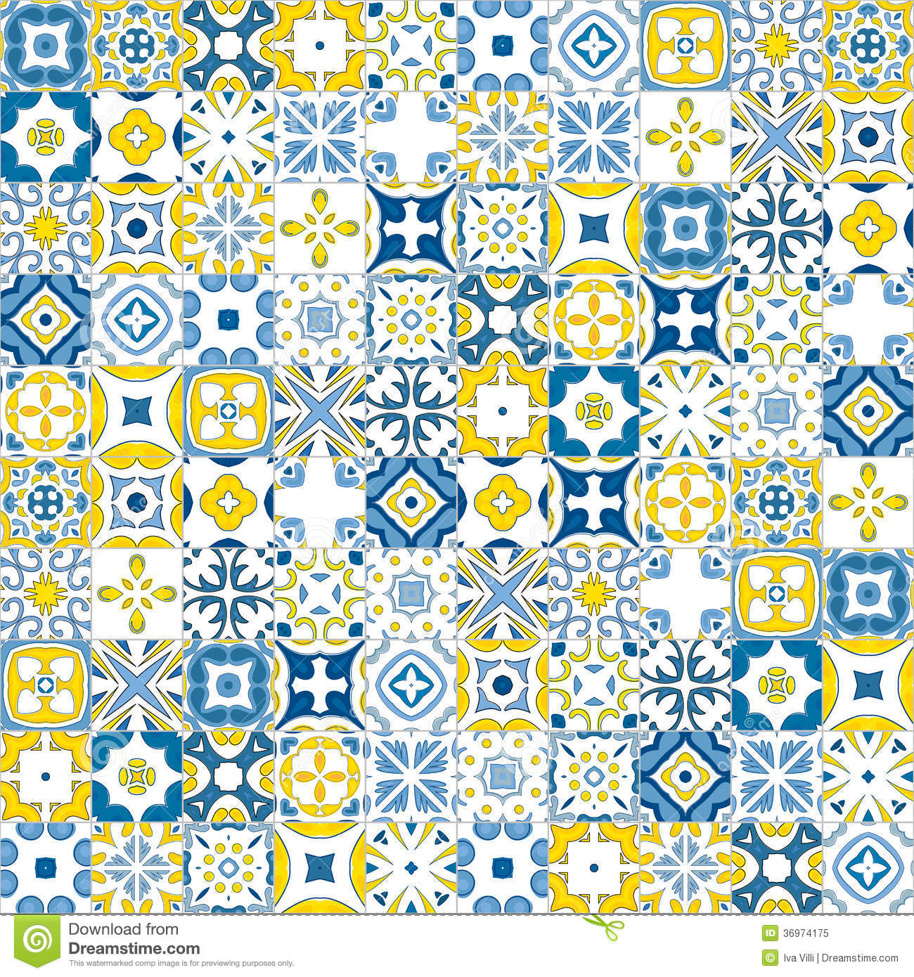 Portuguese Tiles Royalty Free Stock Photo Image 36974175