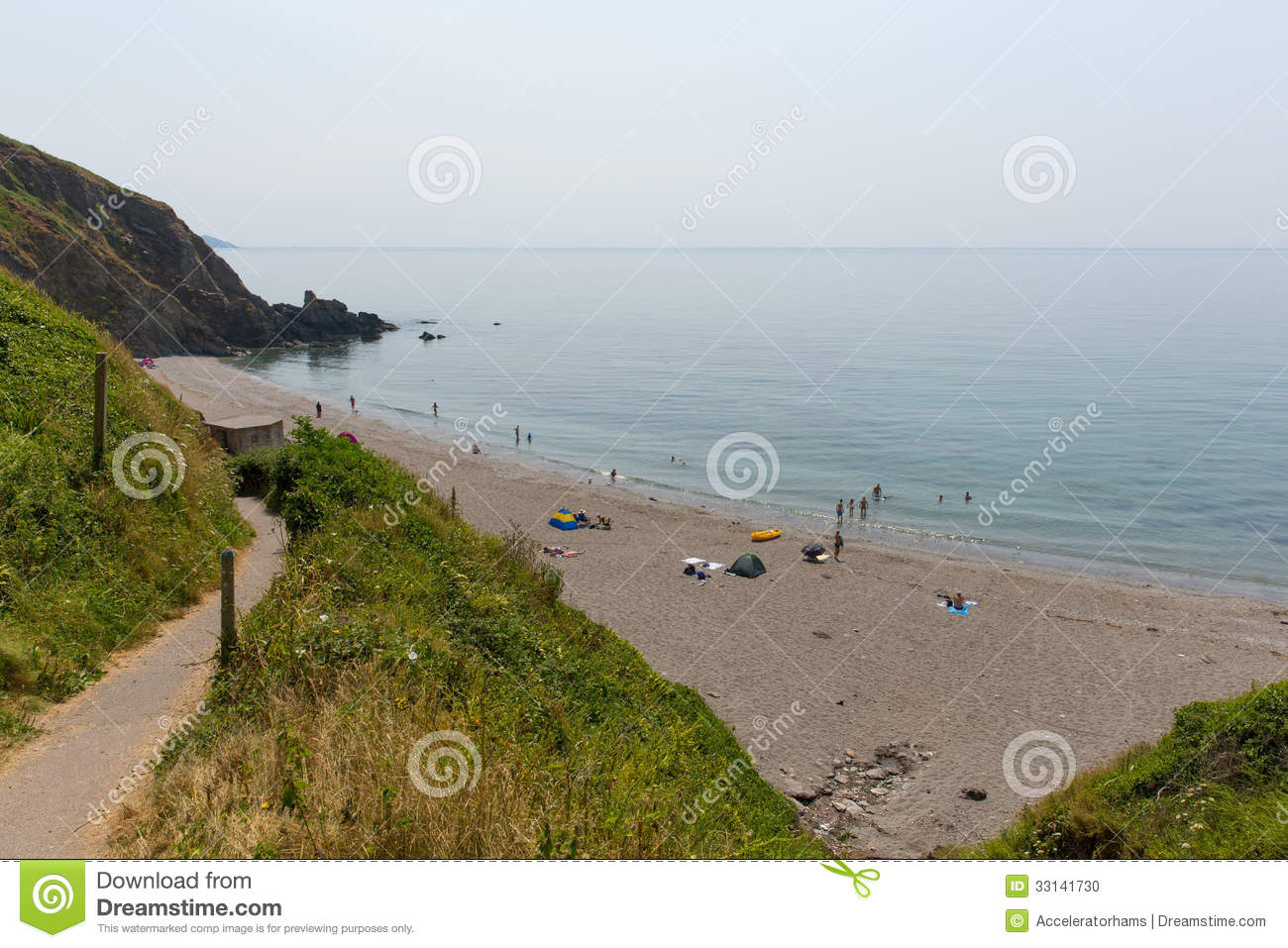 Download Portwrinkle Beach Whitsand Bay Cornwall England Editorial Image - Image of scenic, path: 33141730