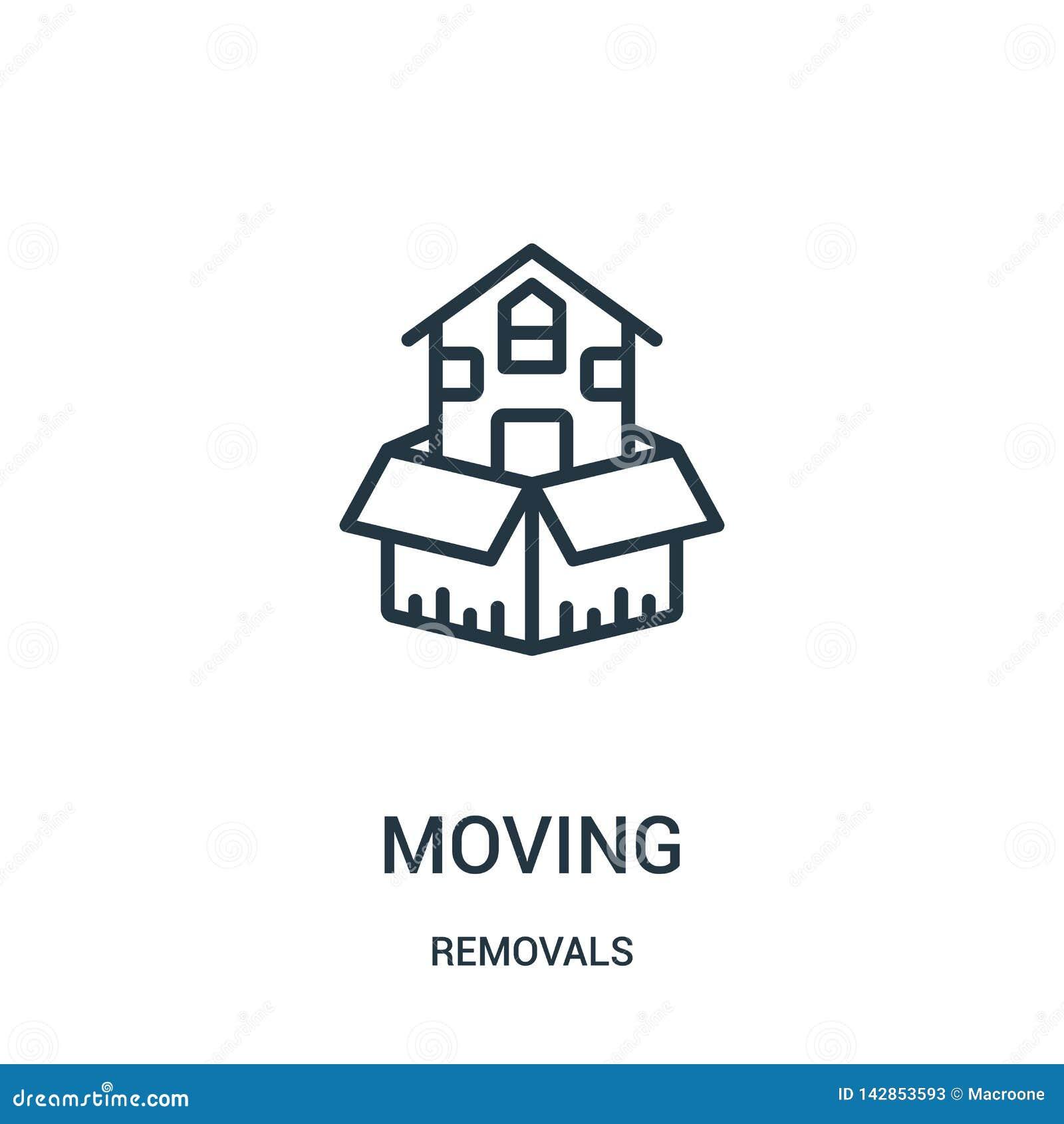 Poruszający ikona wektor od usunięć inkasowych Cienka kreskowa chodzenie konturu ikony wektoru ilustracja Liniowy symbol dla używ