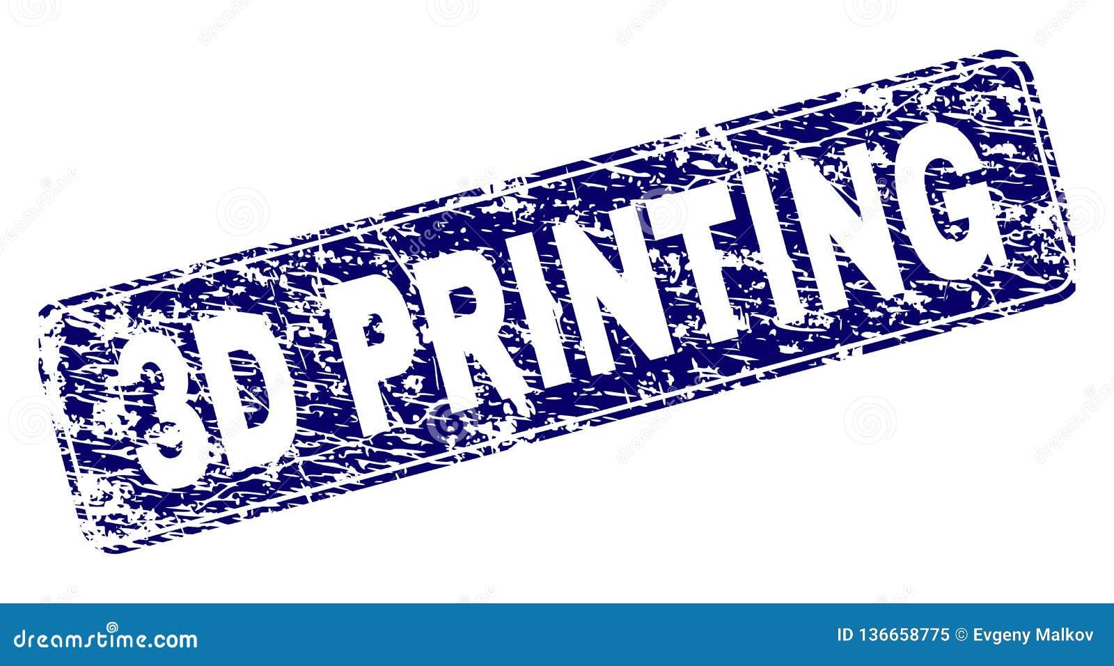 Porysowany druk Obramiający 3D prostokąta Zaokrąglający znaczek