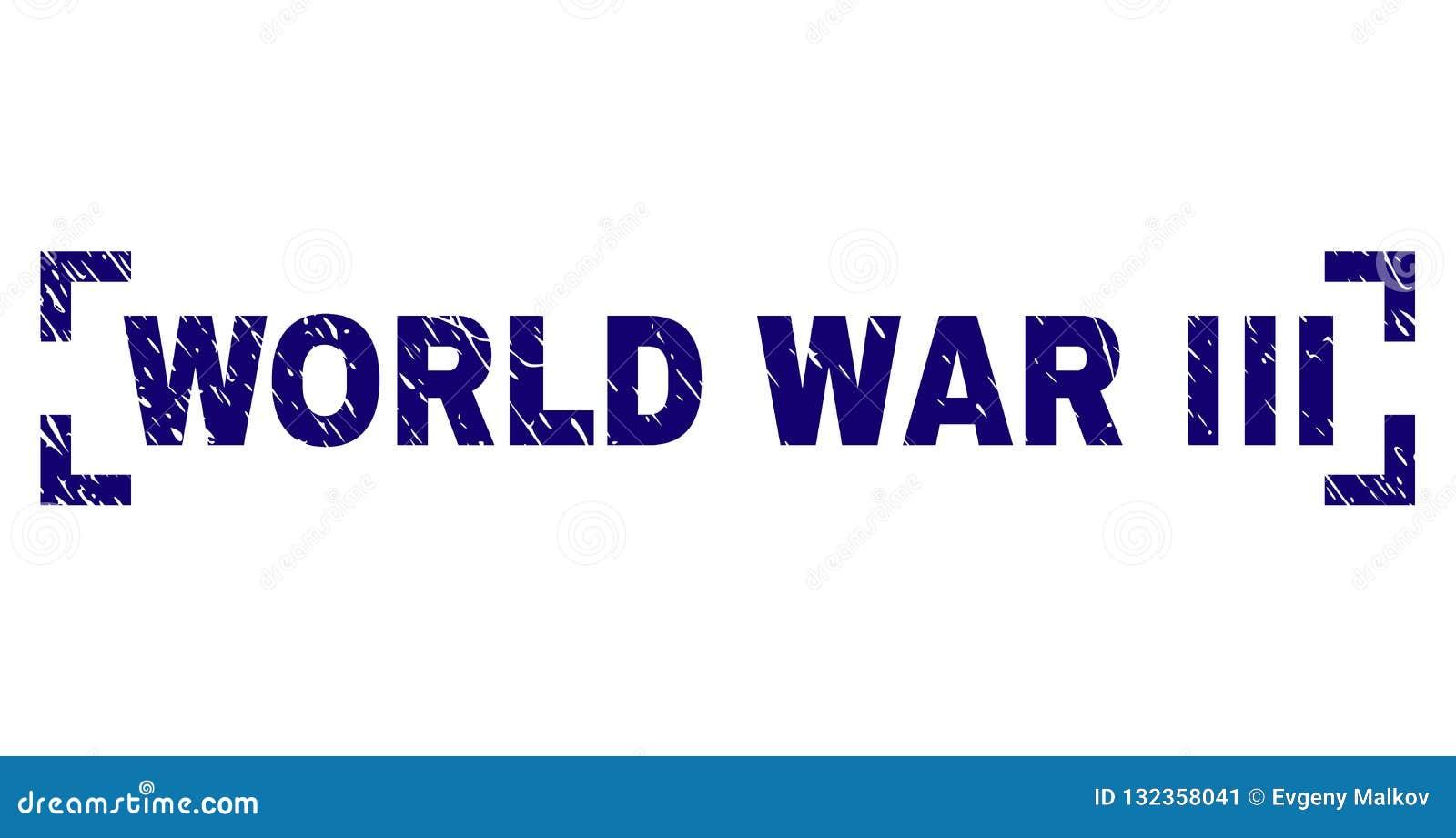 Porysowany Textured III wojny światowej Stemplowa foka Wśrodku kątów