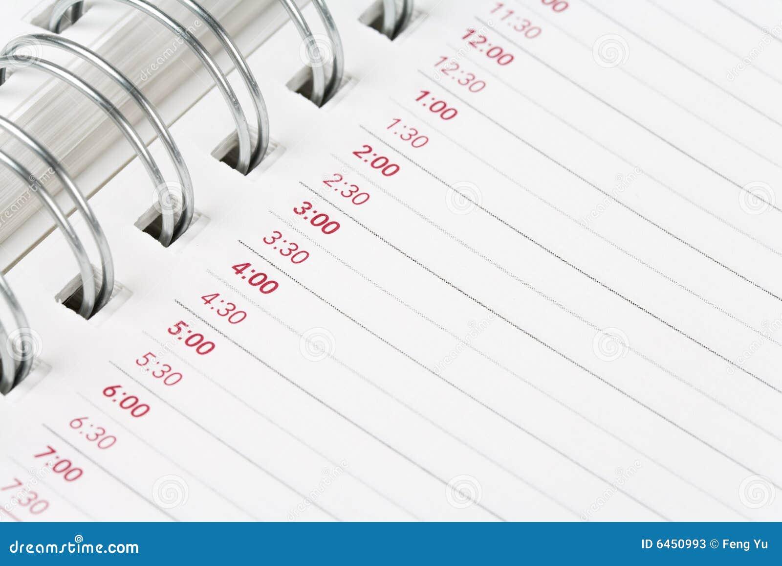 Porządek dzienny kalendarz