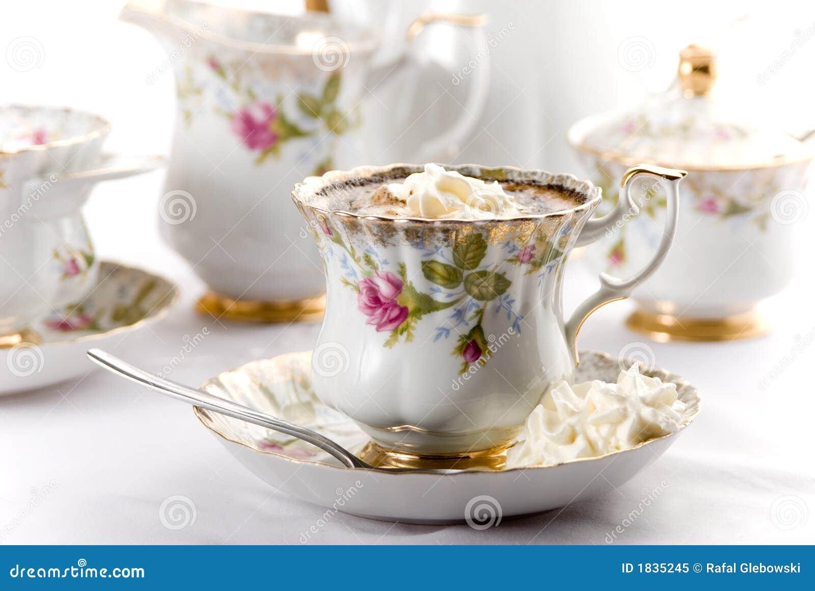 porzellan tasse kaffee stockbild bild von frisch aroma 1835245. Black Bedroom Furniture Sets. Home Design Ideas