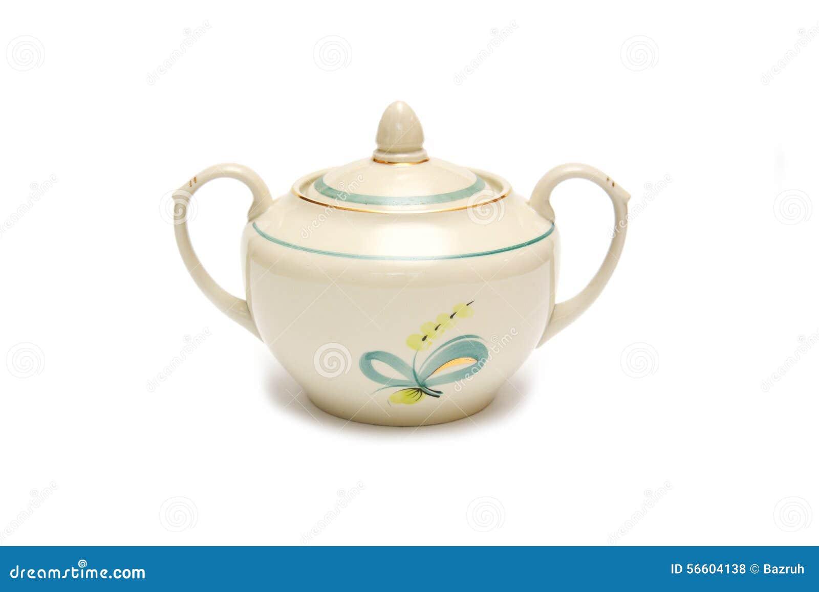 Porzellanvase für Zucker