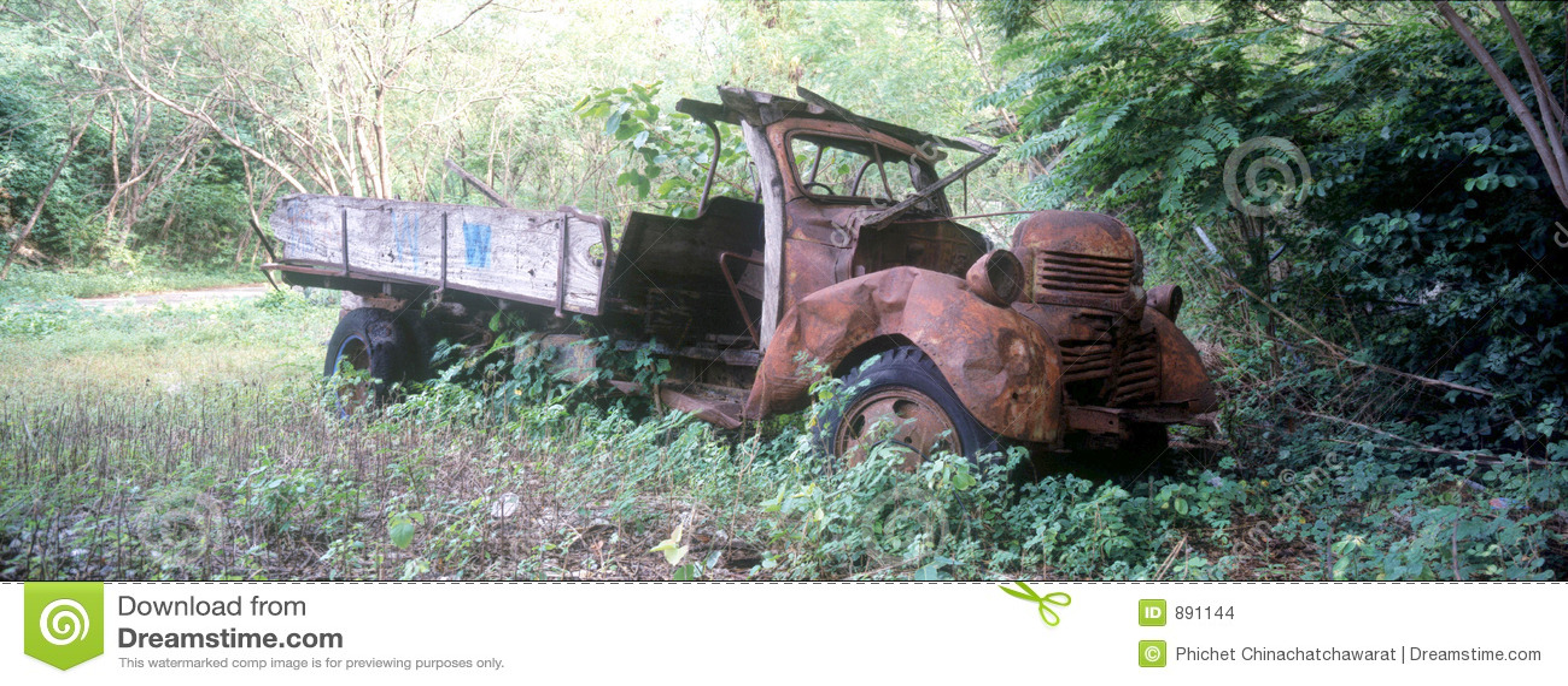 Porzuconą ciężarówkę