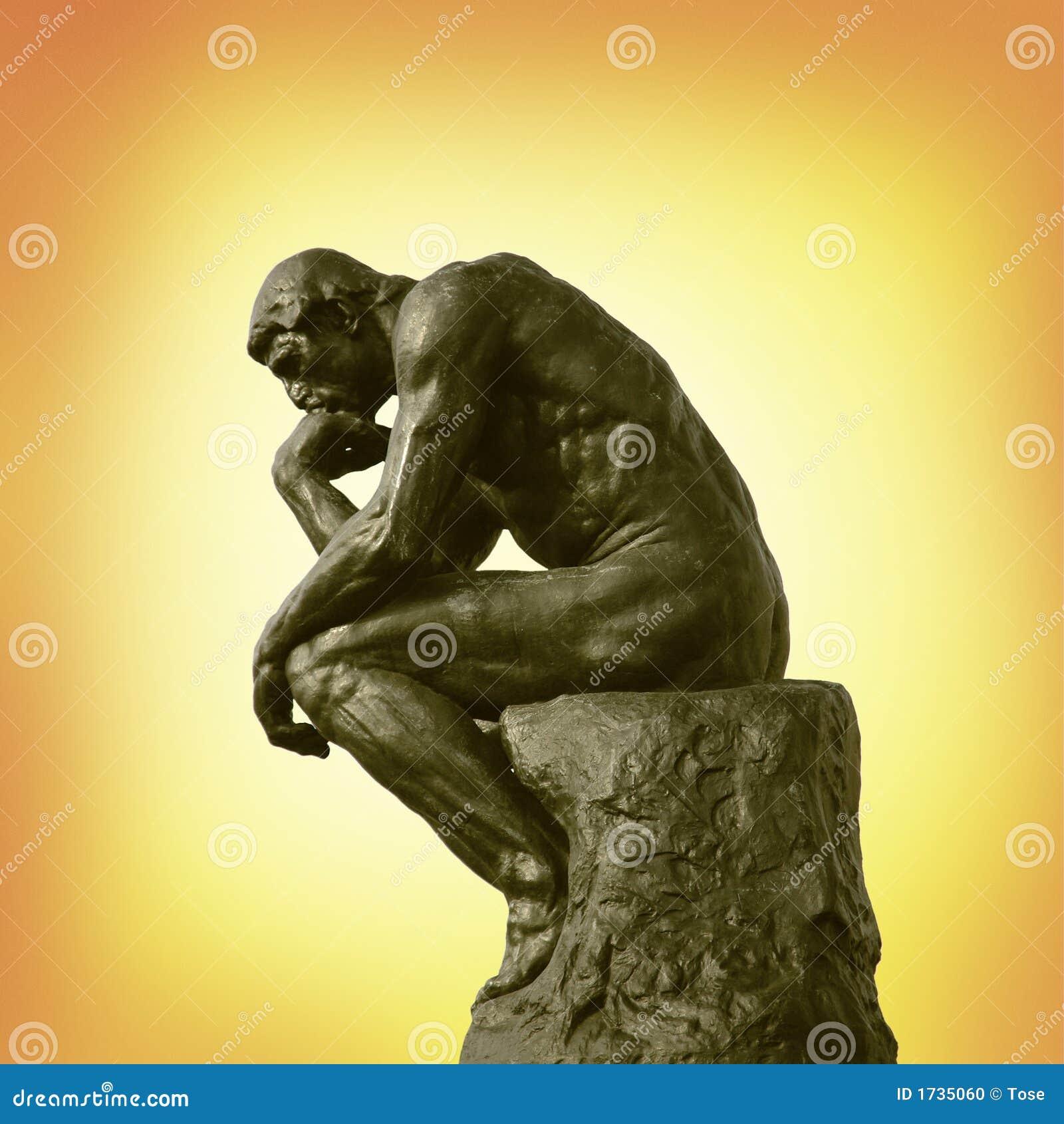 Posąg myśliciel