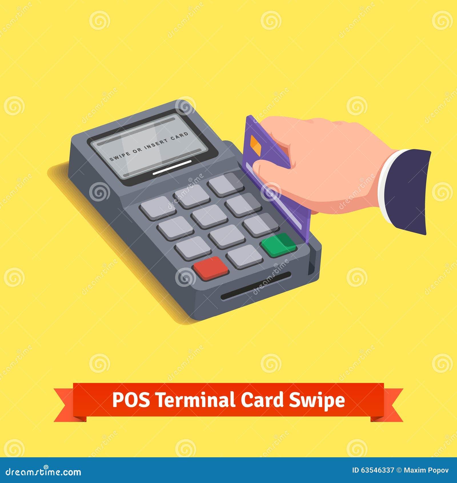 POS eindtransactie Hand die Creditcard jatten