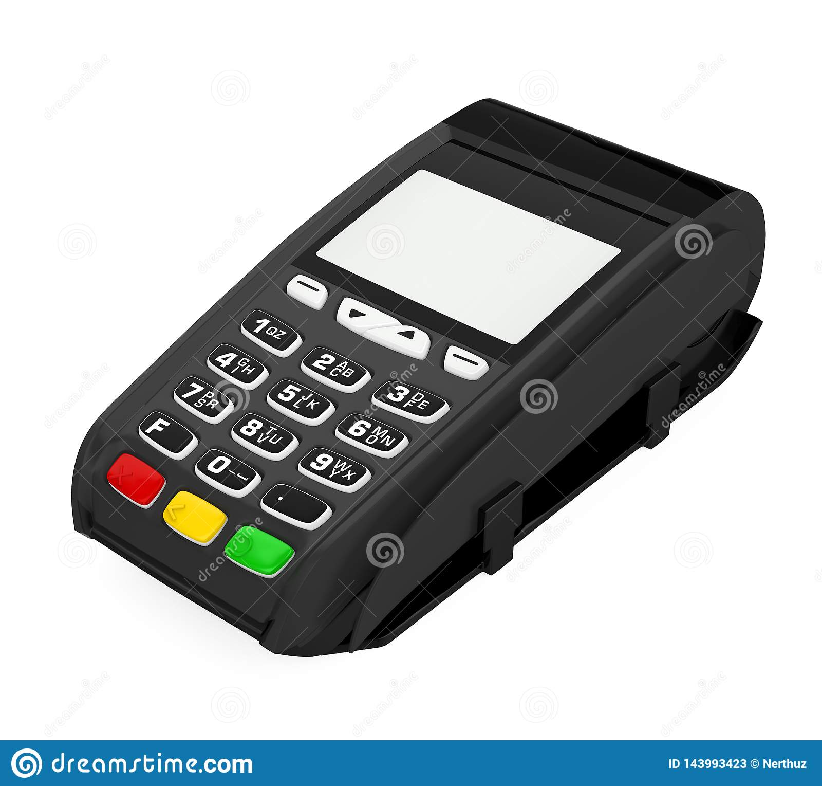 POS Terminal Credit Card Machine Isolated Stock ...