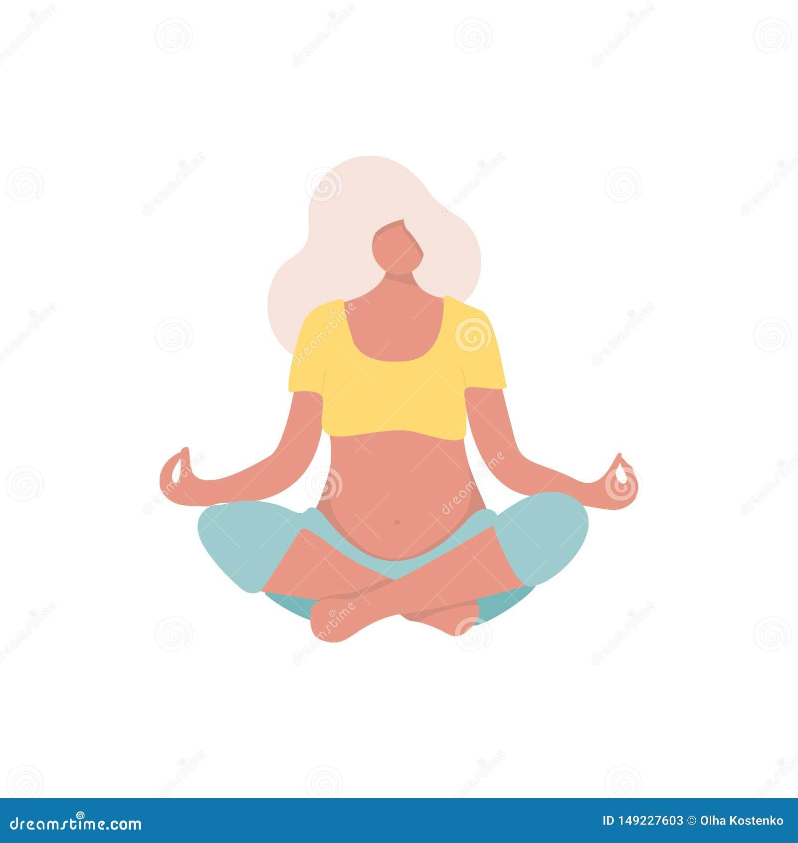 Pose gr?vida da ioga para o est?dio da ioga