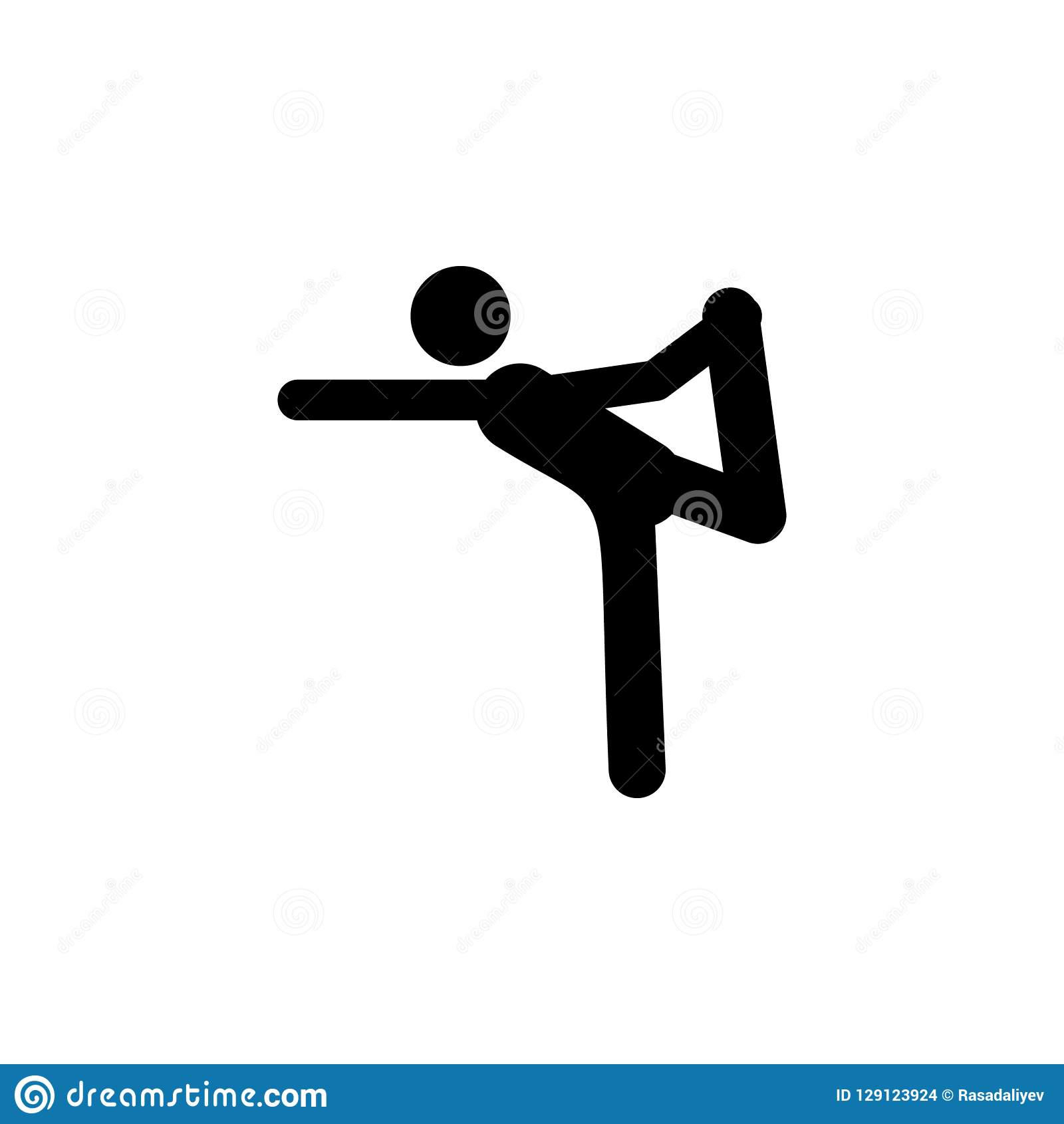 Pose, Man Icon  Element Of Yoga Icons  Premium Quality Graphic