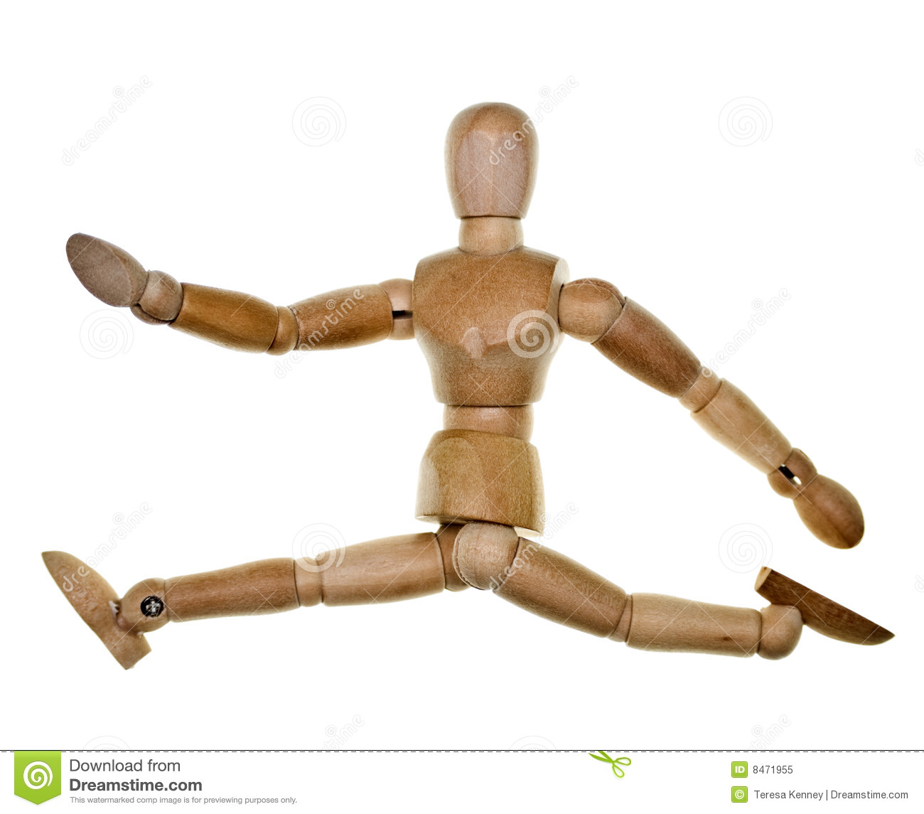 Posed Wooden Mannequin