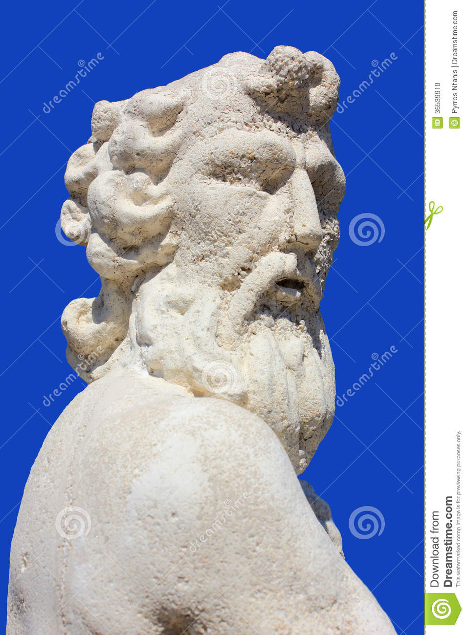 Poseidon statueat zakynthos island greece stock photo image 36539910 - Poseidon statue greece ...
