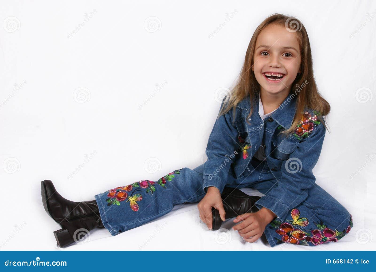 Posera barn för flicka