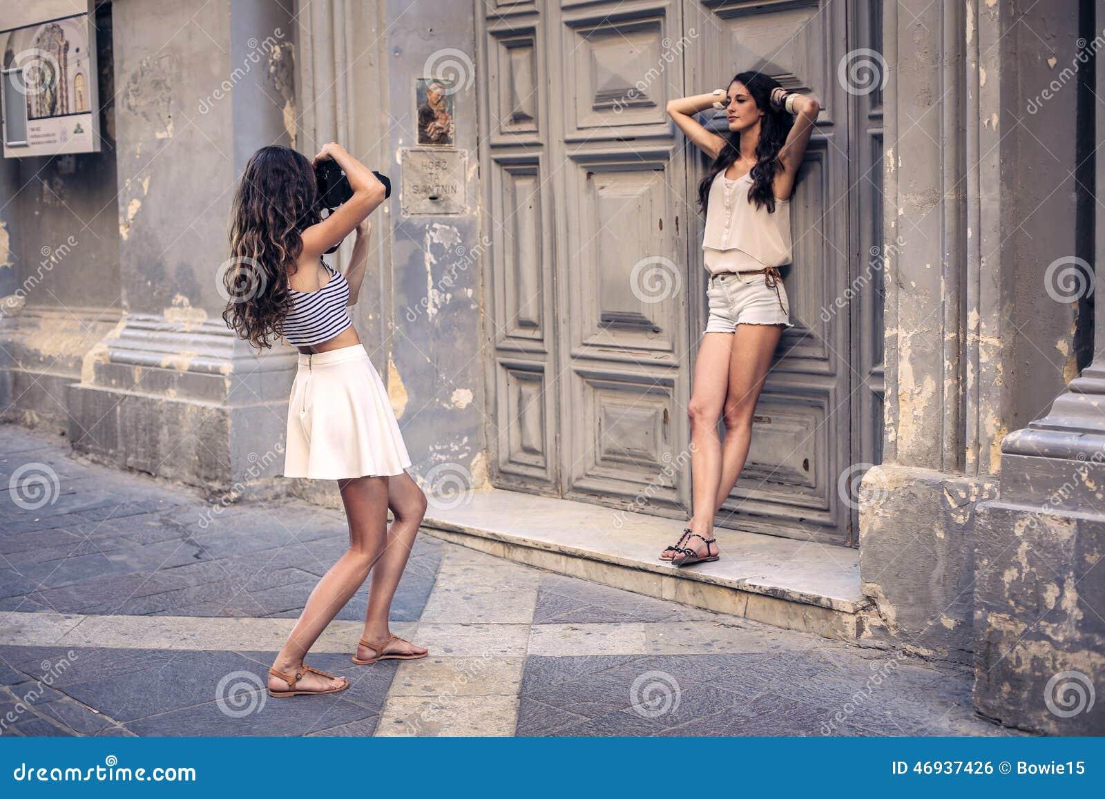 Posera som modeller