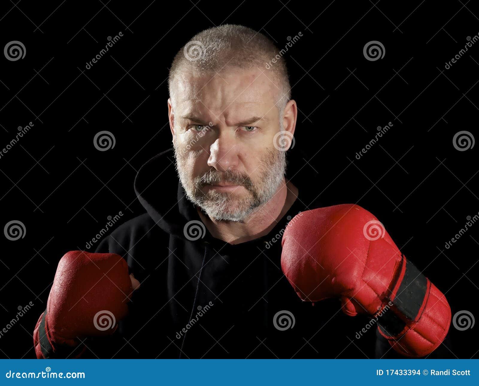 Poserat slitage för kämpe handskar