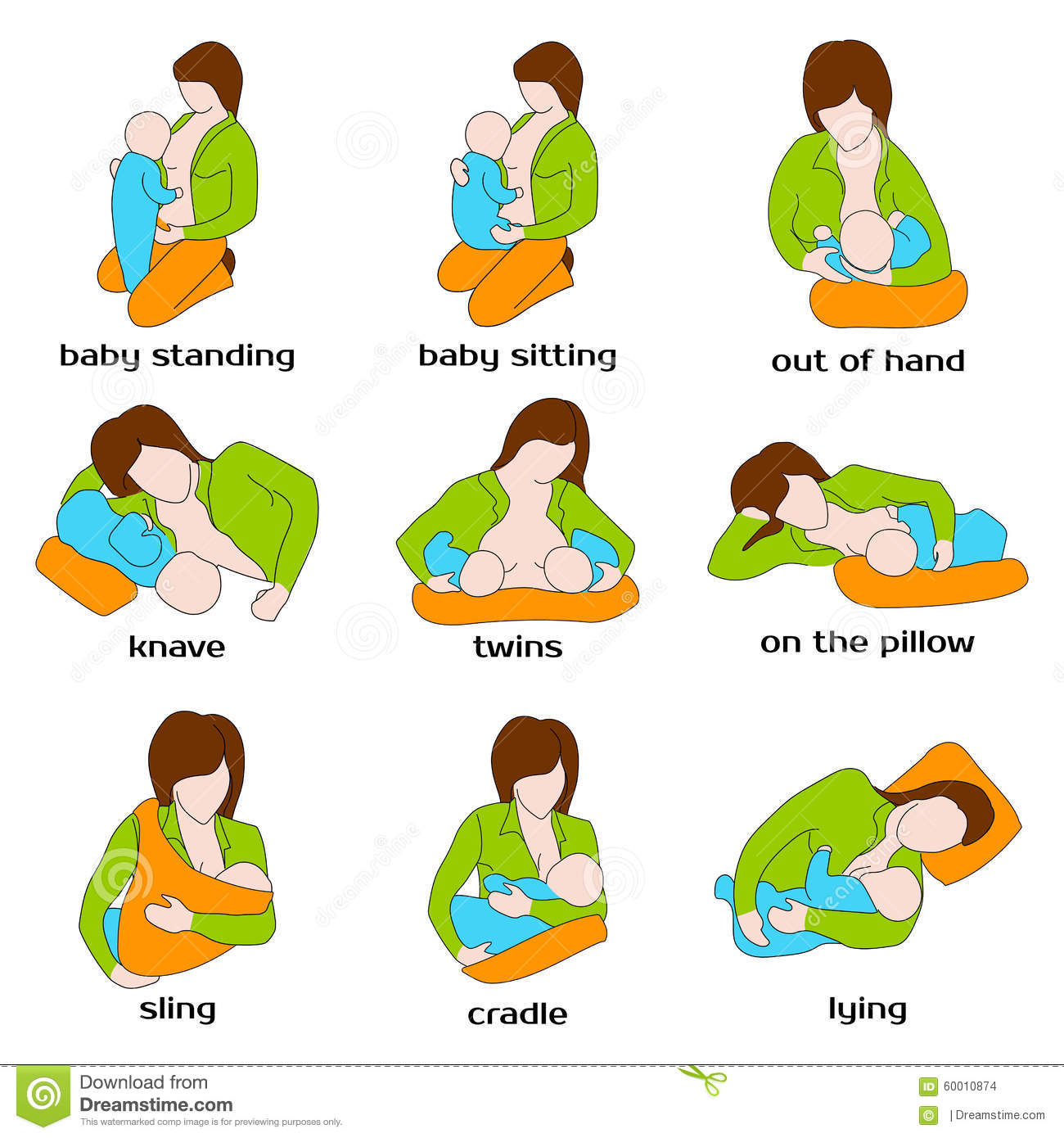 Different Breastfeeding Positions
