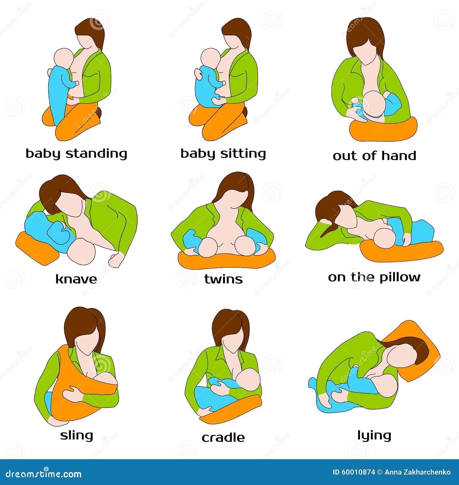 Poses For Breastfeeding Woman Breastfeeding A Stock