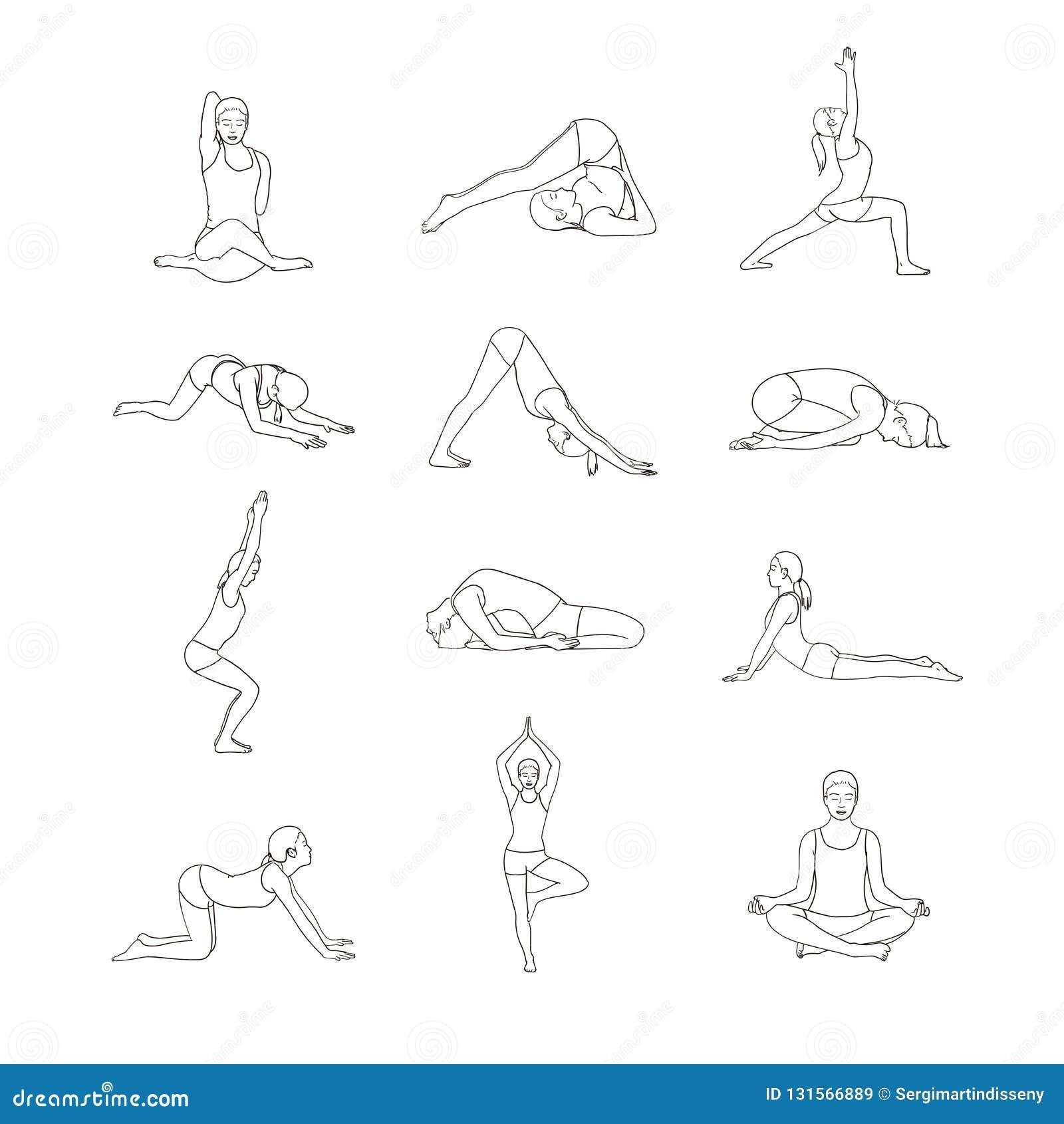Poses de yoga Détendez et méditez Style de vie sain