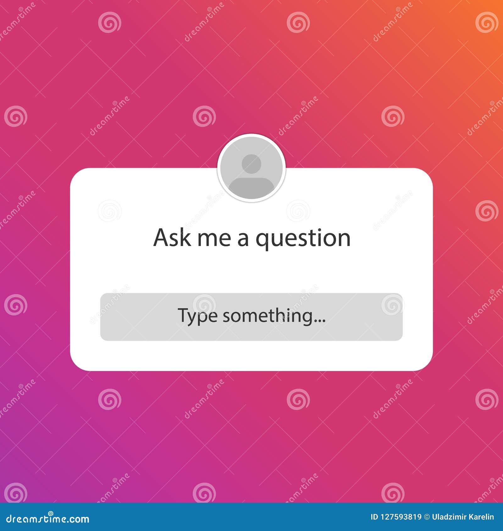 Posez-moi Une Question Question D autocollant Dans Le Media Social ... b95e5e4d4a19