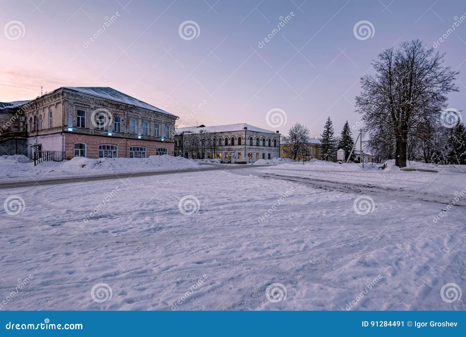 Poshekhonie liten stad, Yaroslavl region, Ryssland