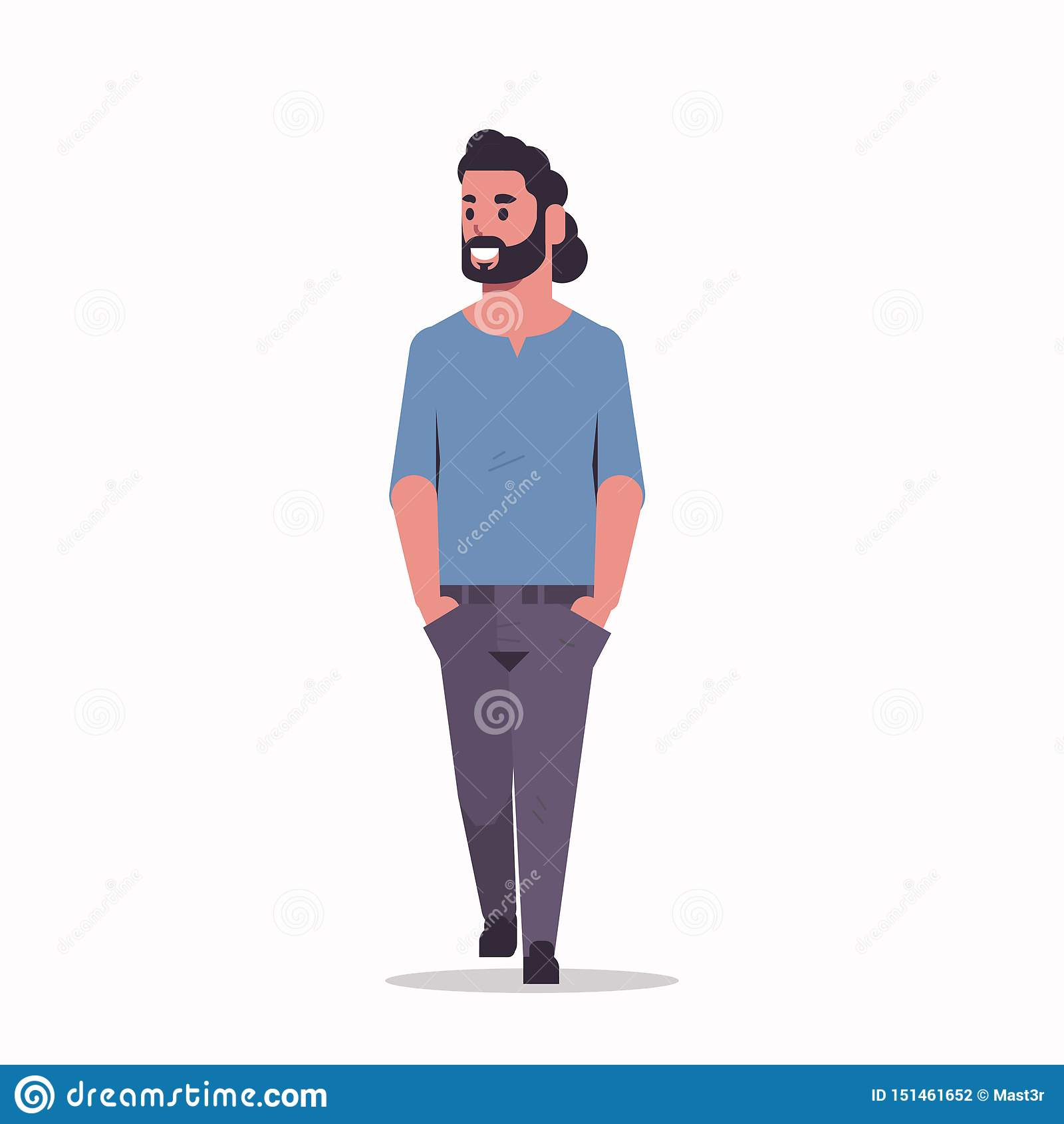 A posição árabe do homem de negócios levanta o homem farpado árabe que veste o plano completo do comprimento do personagem de ban