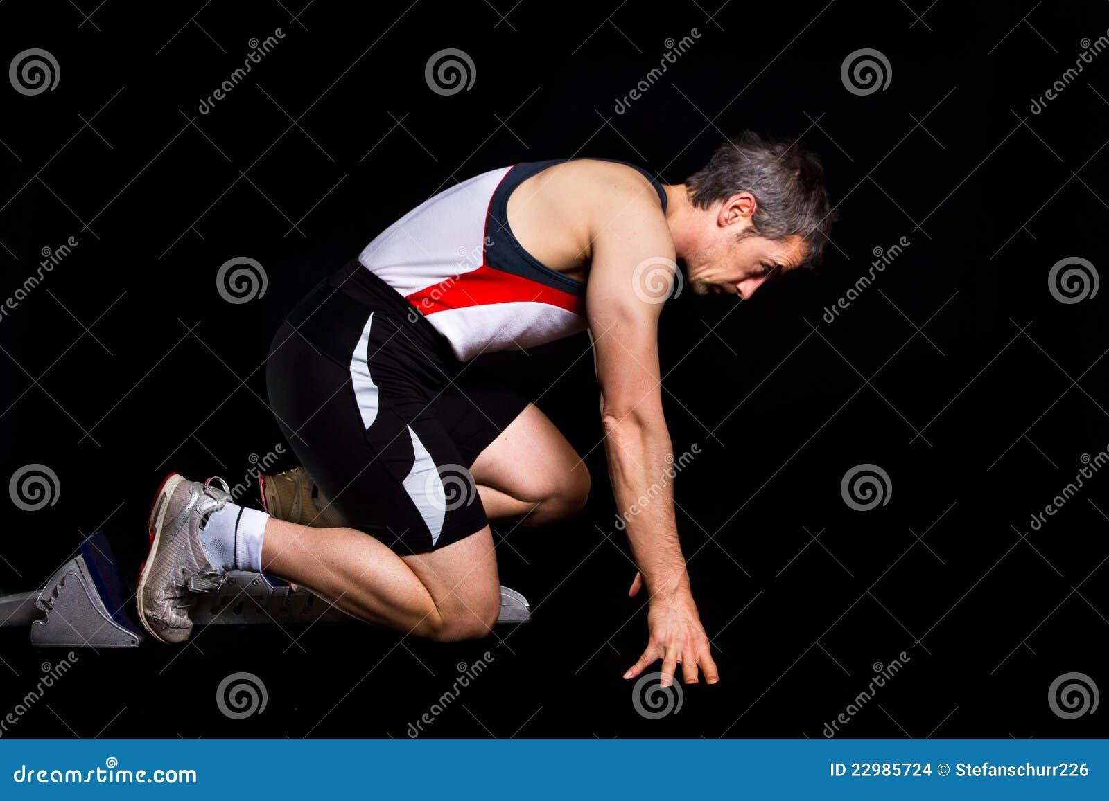 Posição de começo Sprinting