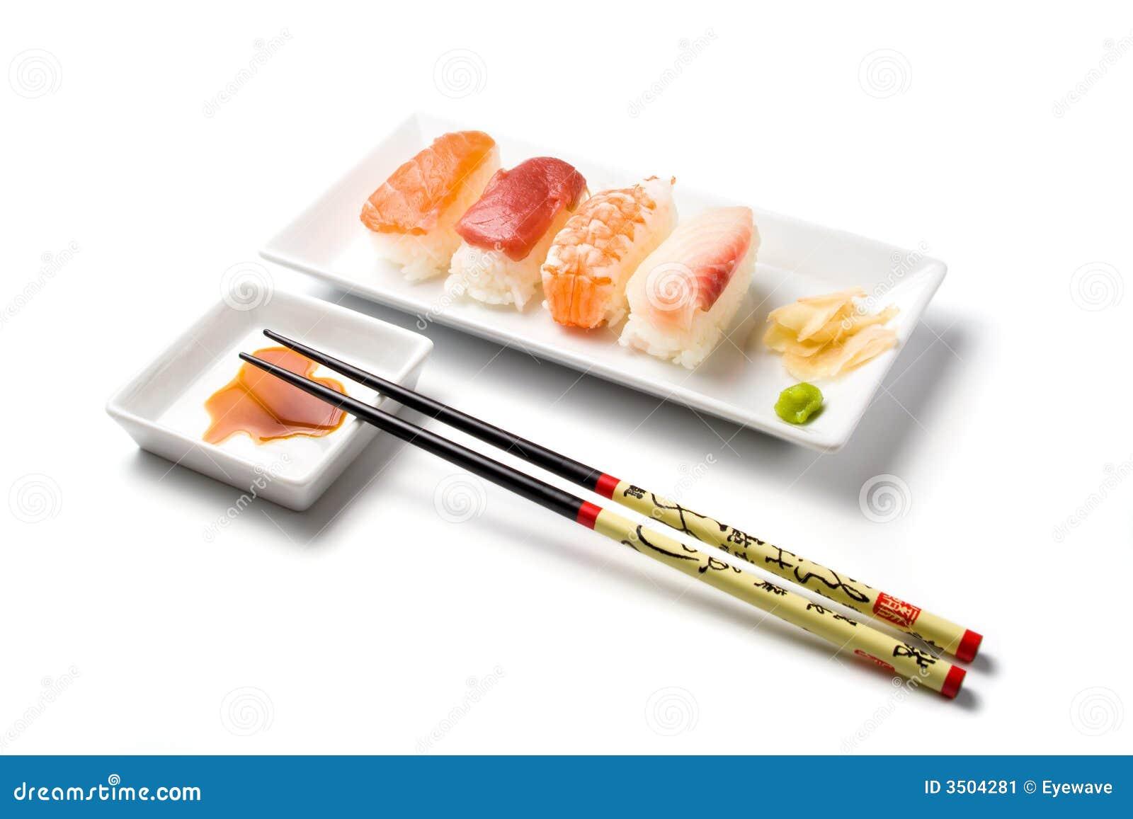 Posiłki nigiri sushi serii