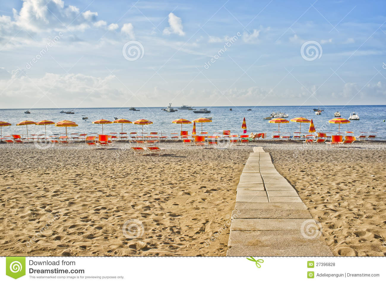 Positano Beach Amalfi Coast Italy Stock Photo Image 27396828
