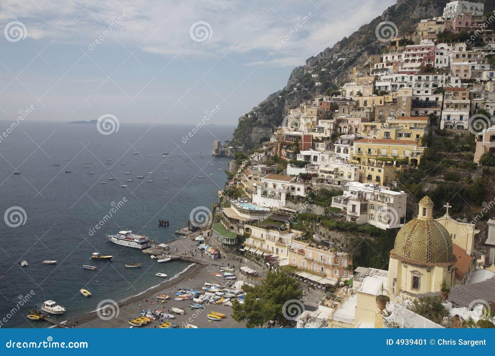Positano op de Amalfi Kust, Italië