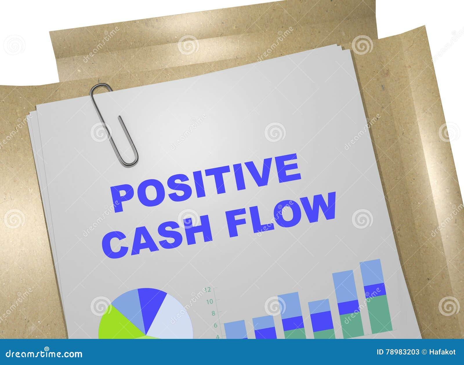 Positief Cash flowconcept
