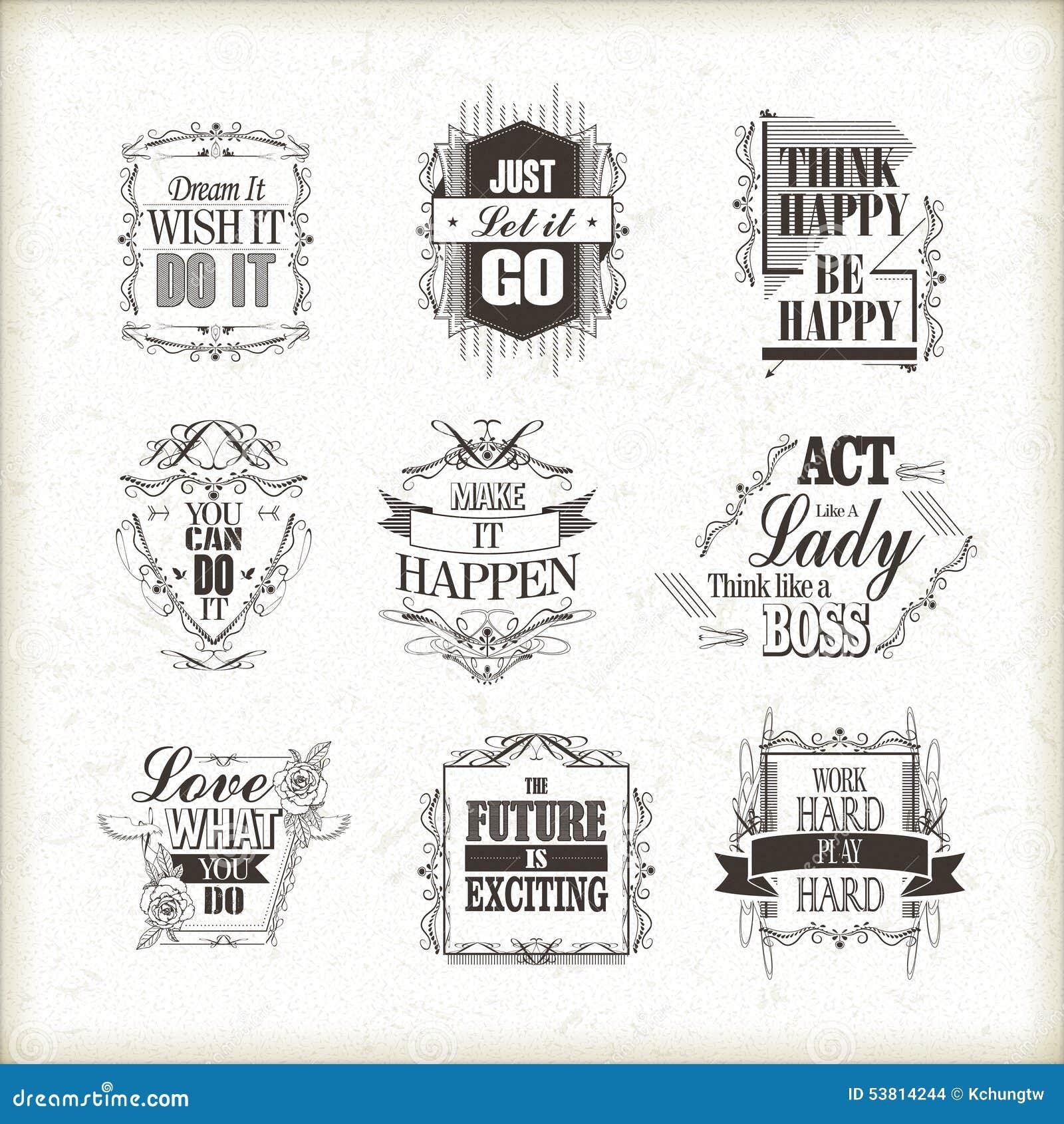 Citaten Uit Hersenschimmen : Positieve geplaatste citaten vector illustratie