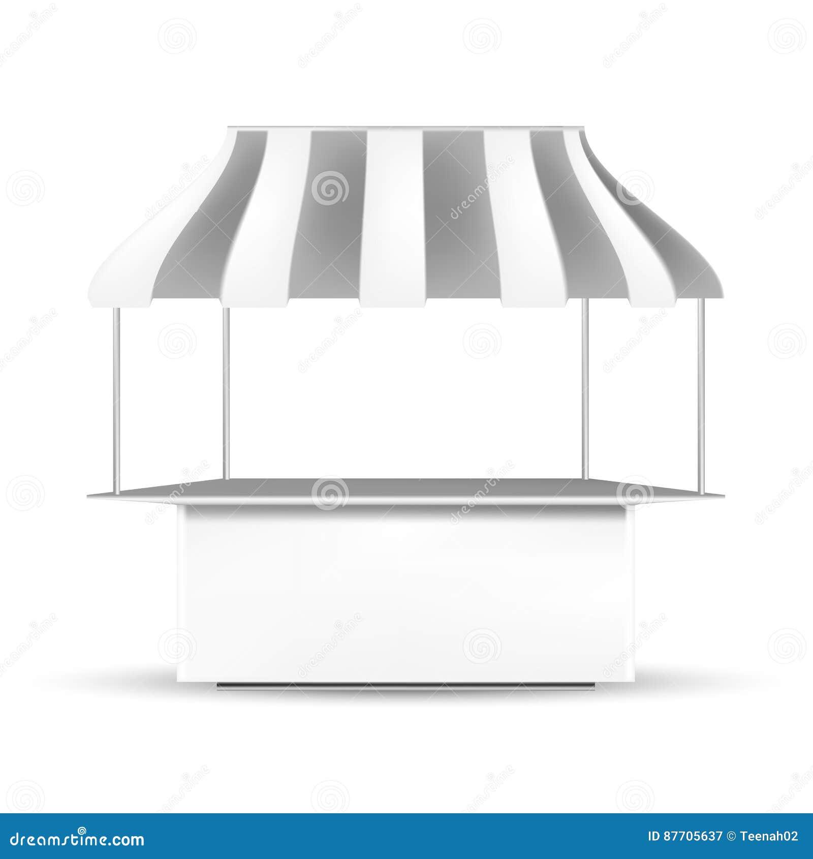 Position blanche stalle de POI de gris ou kiosque extérieure 3D/d intérieur