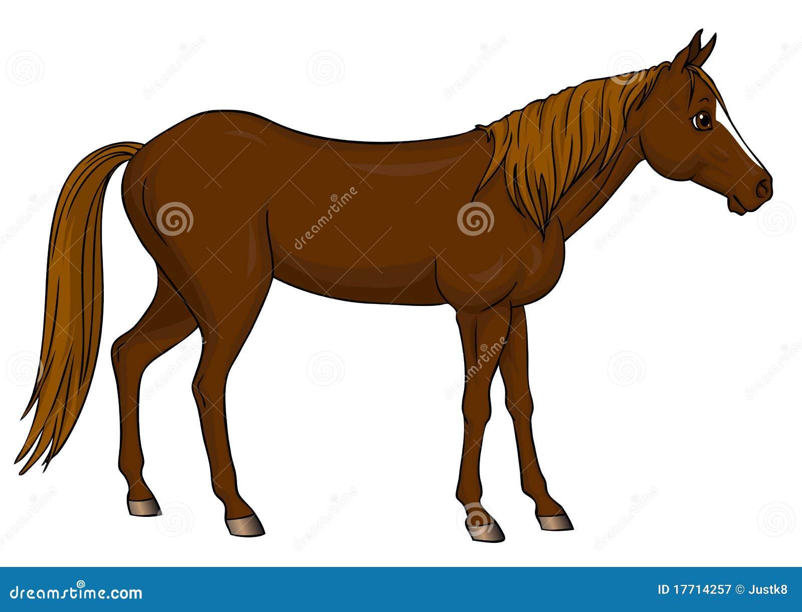 Position de cheval de dessin anim illustration de vecteur illustration du lumi re arri re - Dessin un cheval ...