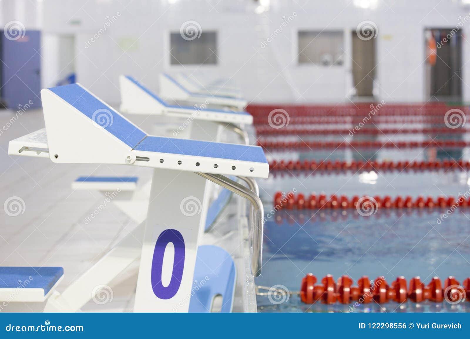 Position de début avec la piscine du numéro 0 en concurrence