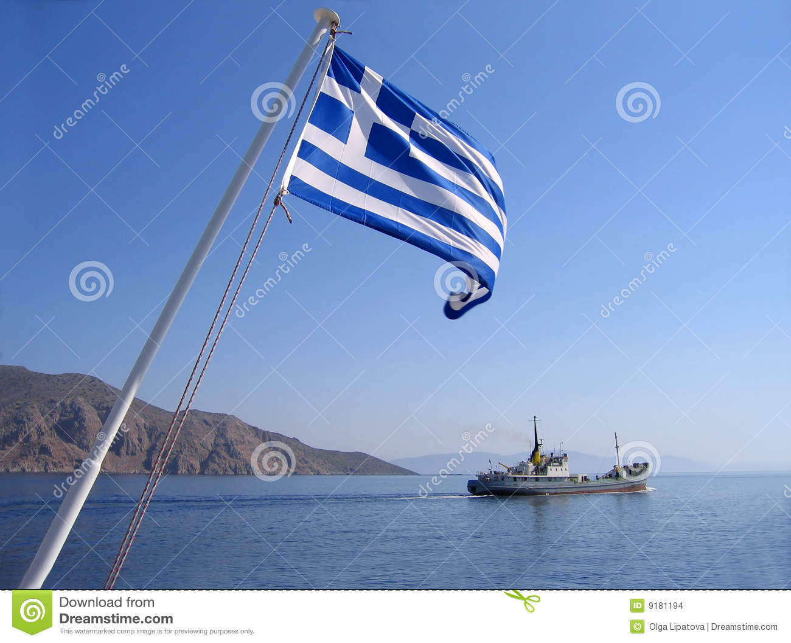 Position grecque de mer d indicateur