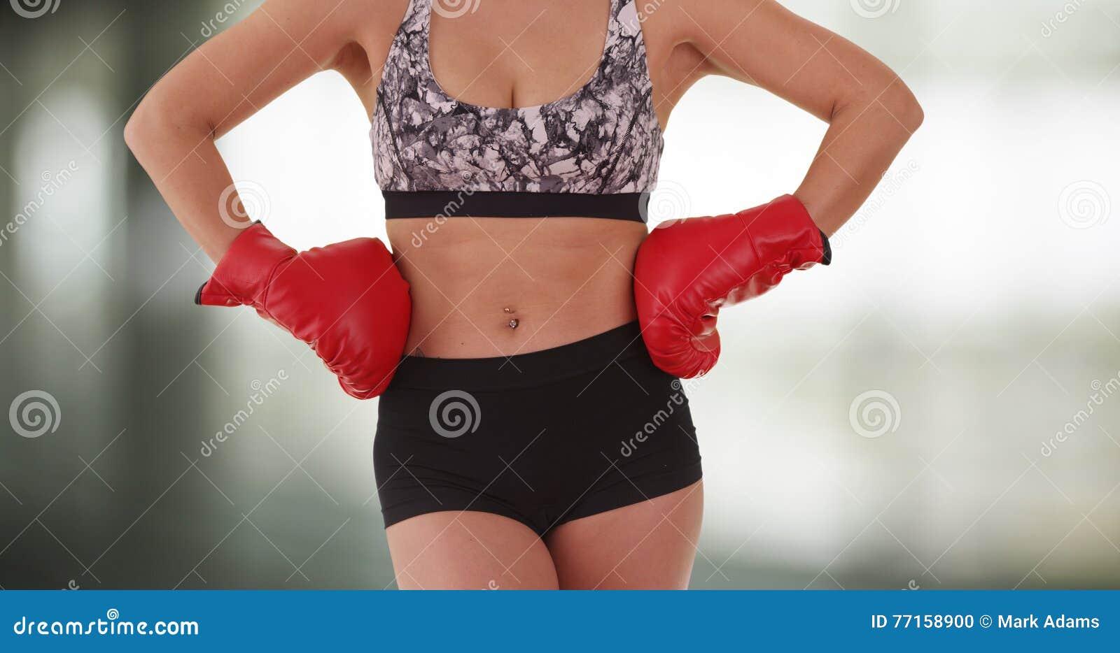 Position japonaise de boxeur de femme