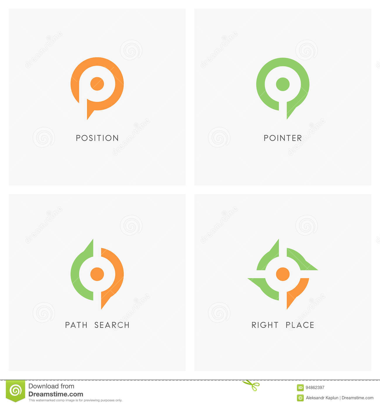 Position pointer logo set stock vector illustration of flag position pointer logo set buycottarizona Images