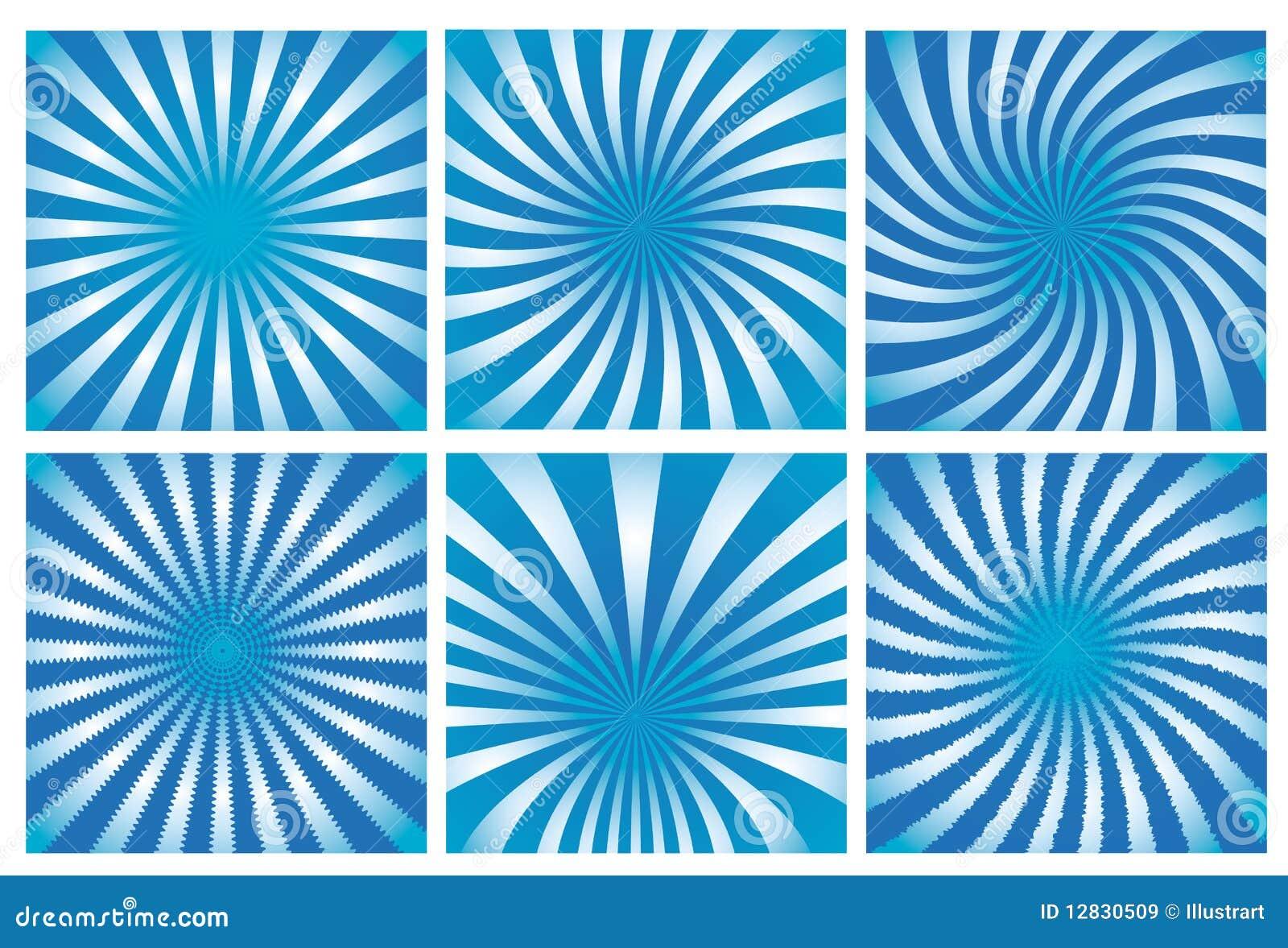Positionnement bleu de fond de rayon de soleil