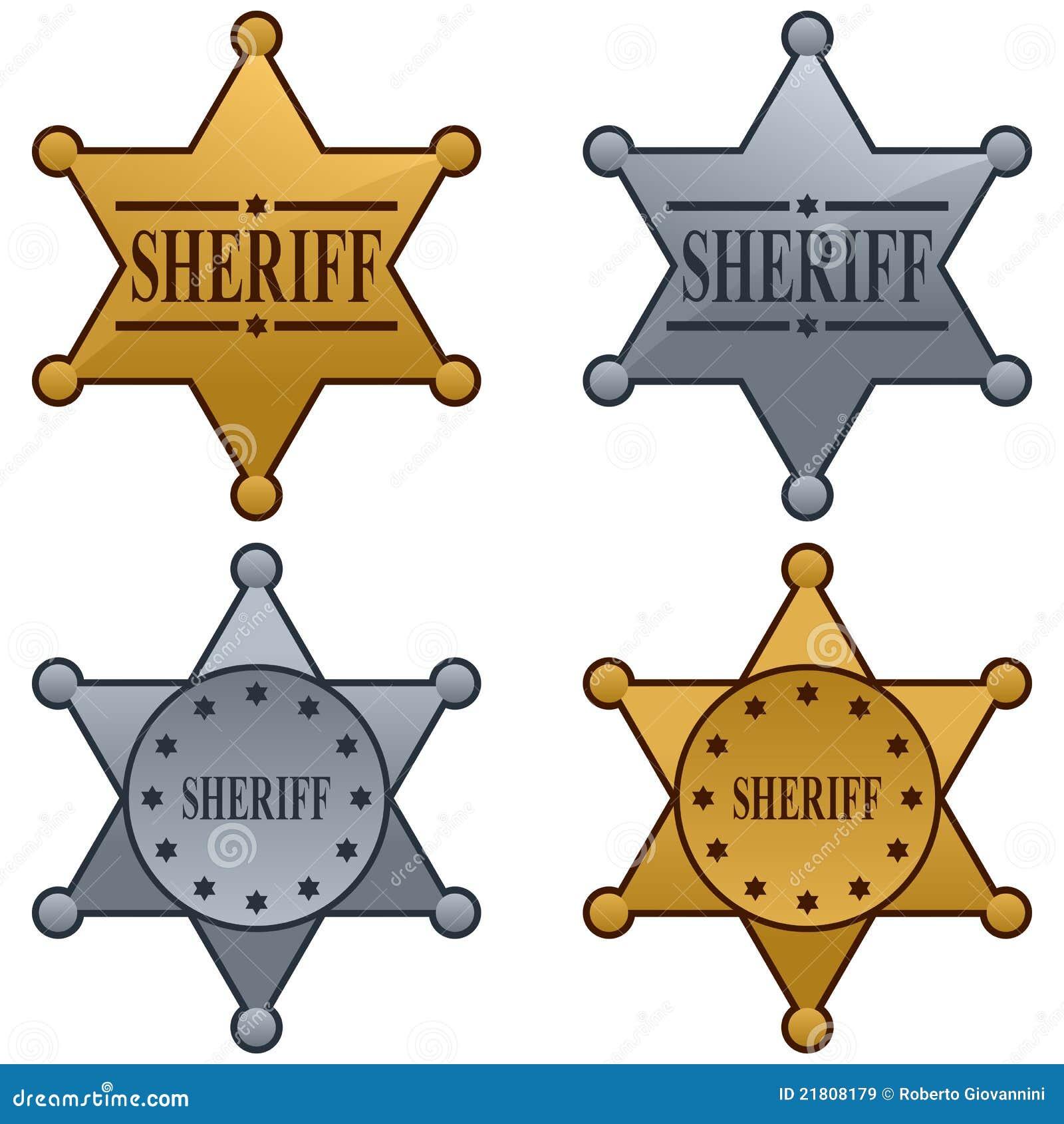 Positionnement d insigne d étoile de shérif